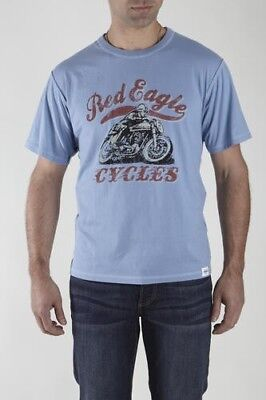Eagle Mens Fitted T-shirt (RED EAGLE MOTORCYCLE Vintage Look Graphic Mens Cotton Fitted T-Shirt Tee NEW NWT)