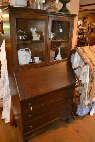 Antique Drop Front Secretary Desk Ebay