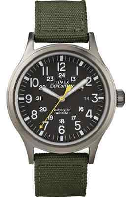 Timex T49961, Men's Expedition Scout Green Fabric Watch, Date, Indiglo