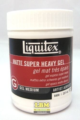Details About Liquitex Artist Acrylic Matte Super Heavy Gel Medium 237ml 5808