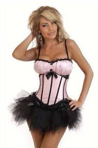 womens pink and black CORSET (12-14) Wyong Wyong Area Preview