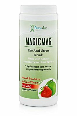Relaxslim Anti Stress Drink - Pure Magnesium Citrate Powder With Organic