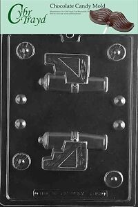 3-D Pirate Cannon Kids Candy Mold Chocolate