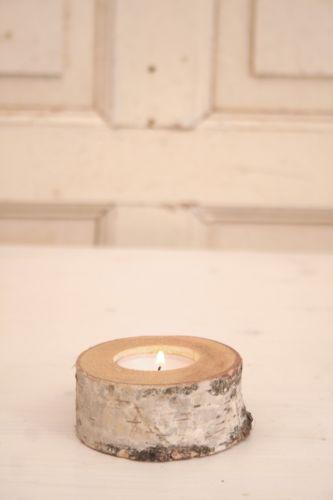 Partylite Kerzenständer Holz ~ Teelichthalter Birke  eBay