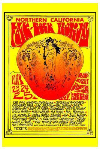 Rock Festival Poster Ebay