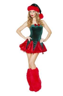 Naughty Elf Christmas Adult Women  Costume by Roma Costume M/L CORSET SKIRT - Naughty Christmas Kostüm