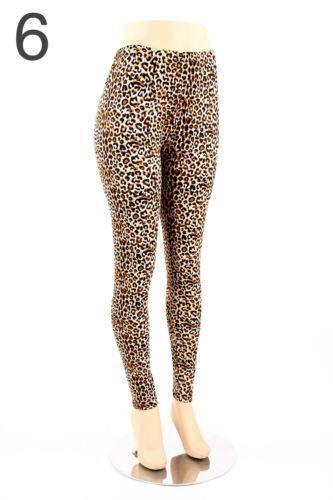 7db8e44a55a5c Plus Size Leopard Print Leggings | eBay