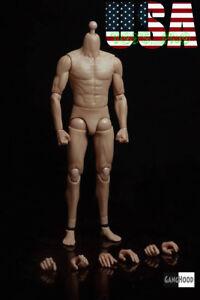 GangHood 2.0 1/6 Asian Emulated Muscular Figure Body For Bruce Lee Head Play USA