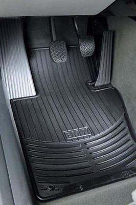 BMW Black Rubber FRONT Floor Mats 2004-2010 645Ci 650i Coupe Cnvrtbl 82550309447