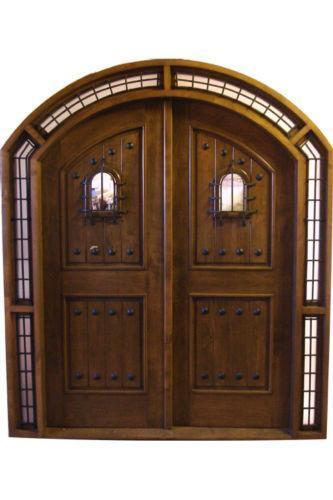 Wood Double Entry Door Ebay
