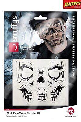 Halloween Skull Face Transfer Tattoo](Halloween Face Transfers)