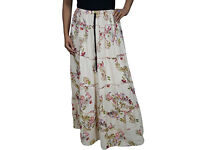 Ladies Delores Elasticated Waist Skirt White