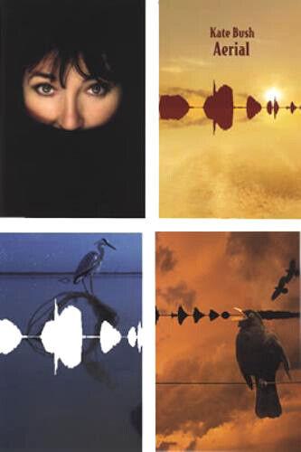"KATE BUSH Aerial Promo Postcard Set Of 4 MINT- Still SEALED!! 4"" x 6"" 2005"
