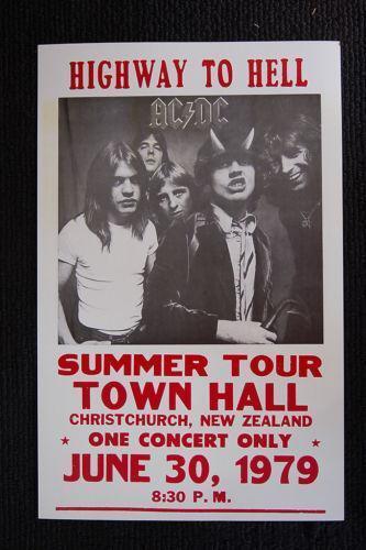 Ac Dc Tour Poster Ebay