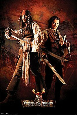 POTC Captain Jack Sparrow & Will Turner  Pirates of the Caribbean POSTER ~ 24x36 Captain Jack Sparrow Poster