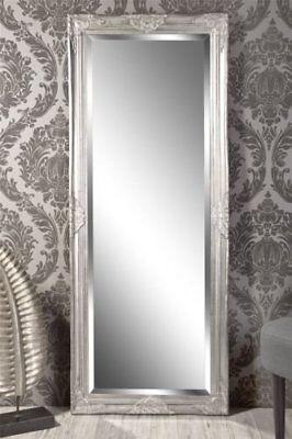 Spiegel Wandspiegel Louisa Barock antik silber 150 x 60 cm