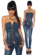 Bandeau Jeans Overall