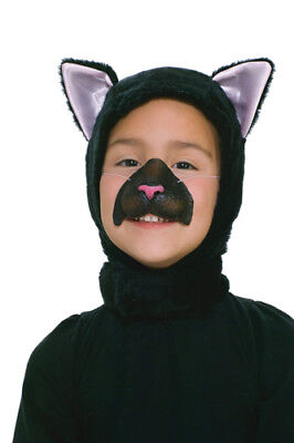 Black Cat Child Mask and Hood for Halloween Costume - Cat Halloween Costumes For Kids