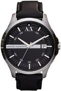 Mens Armani Leather Strap Watches