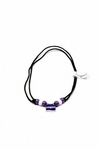 IROQUOIS FLAG SMALL METAL NECKLACE CHOKER .. NEW