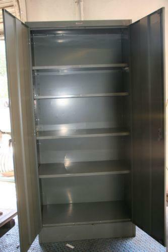 metal cabinet used steel storage cabinet ebay 23225