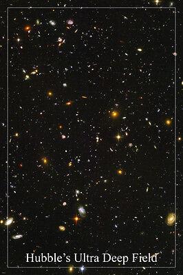 Hubbles Ultra Deep Field Space Image Poster 24X36 Galaxies Stars Supernova