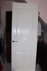 INTERNAL DOOR WHITE SMOOTH MOULDED +chrome handle NEW Excellent quality RRP £200