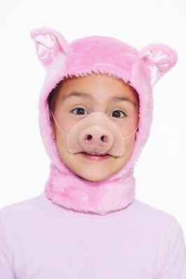 Teen Piglet Costume (Pink Piglet Hood & Nose Costume Cosplay Accessory Set Child)