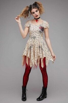 CHASING FIREFLIES WOMENS Voodoo Heart Doll Cutout Dress 12 M/L HALLOWEEN COSTUME