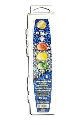 Prang Aquarell Set (Dixon Prang Semi-moist Washable Glitter Watercolor - 0.11 Fl Oz - 8/set (80515))