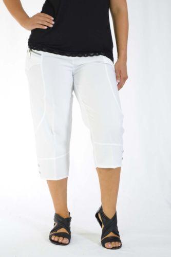 White Elasticated Waist Trousers Ebay
