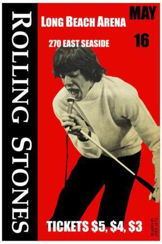 Rolling Stones Concert Poster Ebay
