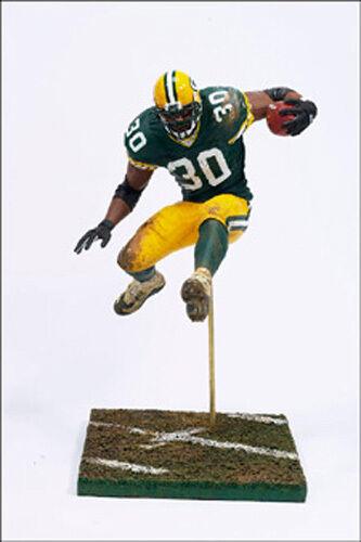 McFarlane NFL Series 8 Green Bay Packers Ahman Green (Green) ships inner tray