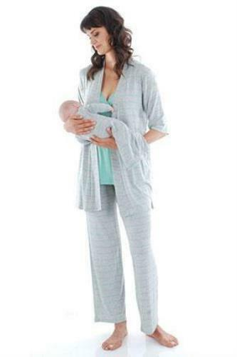Everly Grey Roxanne 5 Piece  Maternity/Nursing Pajama Set