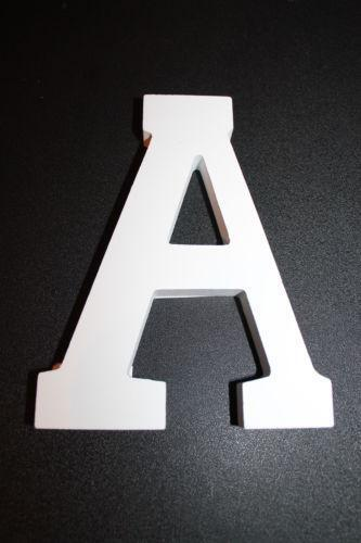 White wooden letters ebay for Ebay wooden letters