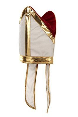 elope Holy Pope Hat, White/Gold, One Size