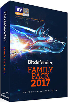 Bitdefender Family Pack   Unlimited Devices   1-Year I Instant 2018 Update