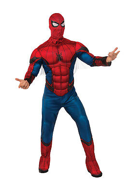 Men's Deluxe Spiderman Homecoming Costume Muscle Chest Adult Size Standard
