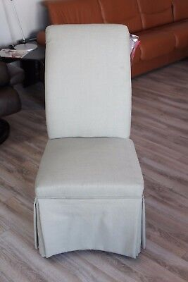 Best Furniture Dining Side Chair in Metal Color Fabric