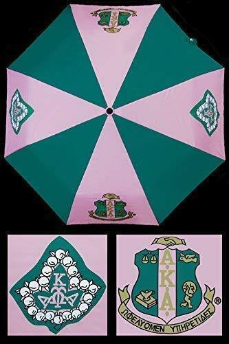 Alpha Kappa Alpha Auto Open Folding Umbrella