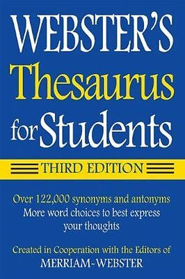 Websters Thesaurus For Students  Third Edition 122 000 Synonyms  Antonyms