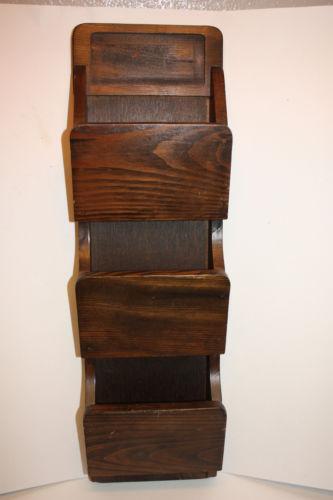 Wood Mail Organizer Ebay