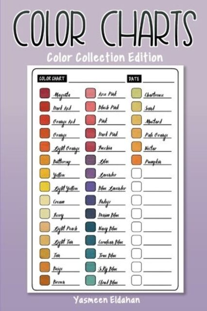 Color Charts: Color Collection Edition: 50 Color Charts to record yo... NEW BOOK
