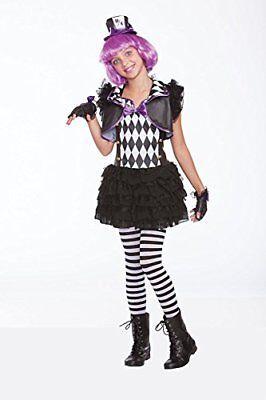 Halloween Wholesalers Hatter Madness Girls Costume (Black & - Halloween Wholesalers