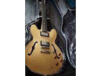 Epiphone Dot ES335 Semi Hollow Body Electric Guitar Natural Wood + 335 HARDCASE