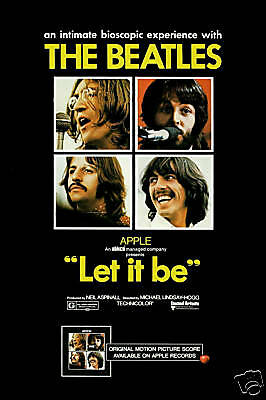 The Beatles * Let It Be* Movie Poster U.S. Poster Large 24x36