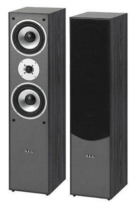 Stand Lautsprecher (500 Watt) schwarz (Paar) AEG LB 4711 -NEU-