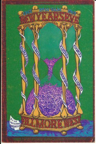 ORIGINAL BG153 Postcard VANILLA FUDGE Fillmore West 1968 LEE CONKLIN Bill Graham