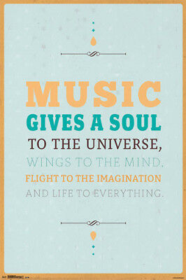 MUSIC GIVES SOUL TO THE UNIVERSE Inspirational Artistic Studio Wall POSTER