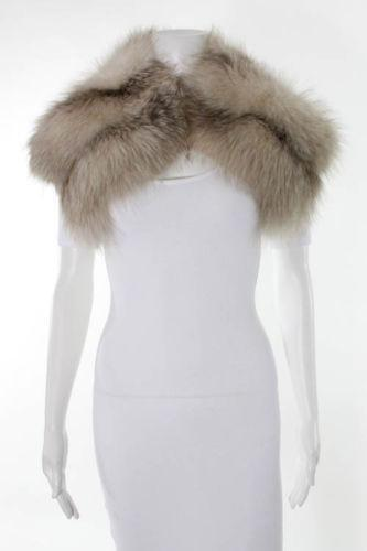 White fur stole clothing shoes accessories ebay - Polsterstoffe fur stuhle ...